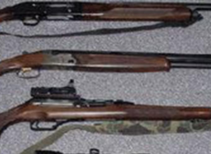 La Polizia ritrova 3 fucili nascosti in campagna