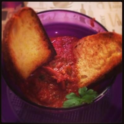 Moscardini in salsa di pomodoro piccante