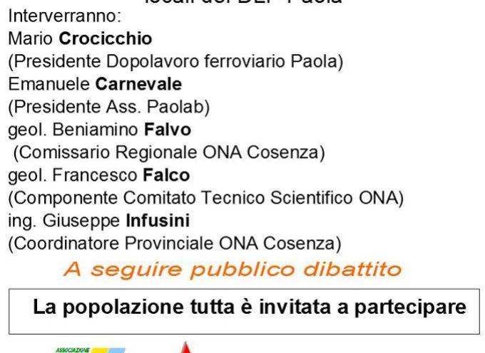 Paola, contaminazione da amianto: se ne parla al DLF