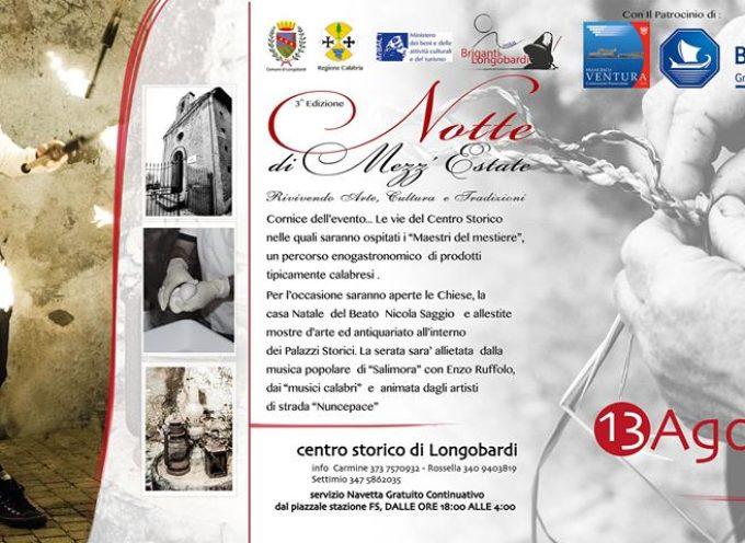 Stasera a Longobardi la tradizione rivive con l'arte