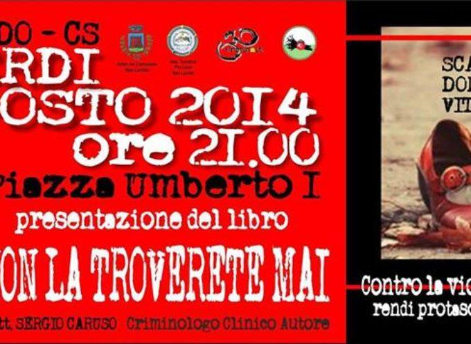 Sergio Caruso a San Lucido per parlare di femminicidio e prevenzione