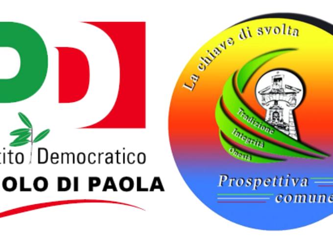 PD Paola e Prospettiva Comune insieme per il bilancio [delle primarie]