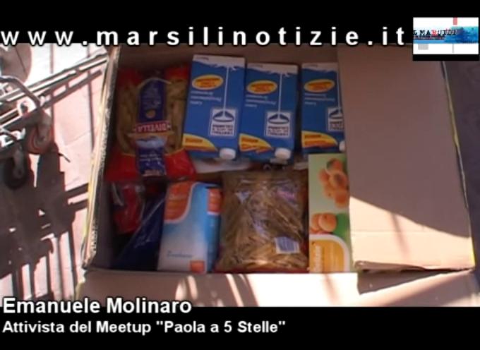 """Paola, i """"cinquestelle"""" raccolgono cibo per beneficenza [VIDEO]"""