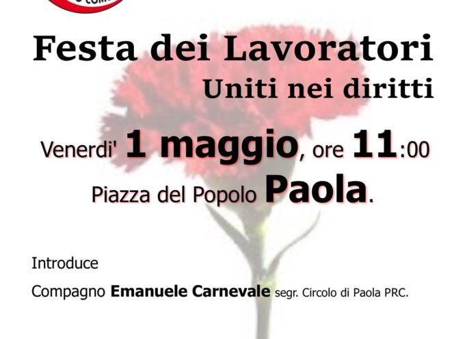 PRC Paola- 1° maggio in piazza per la libera iniziativa