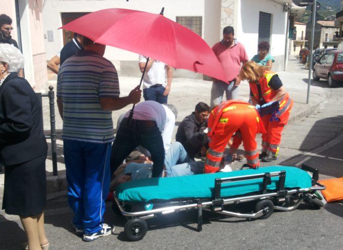 San Lucido – Caduta dal marciapiede si ferisce gravemente