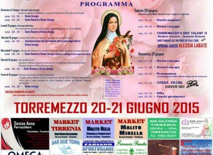 Torremezzo. Partono sabato i festeggiamenti di Santa Teresa
