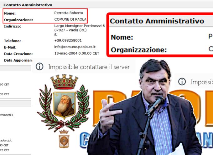 Paola – Il sito del comune ancora intestato a Roberto Perrotta