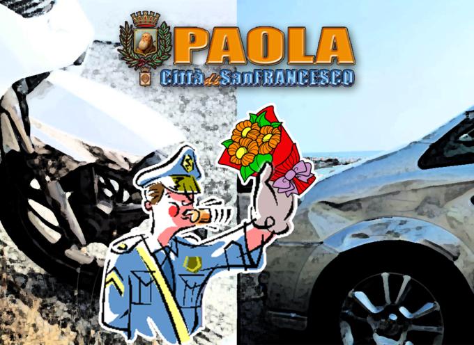 """Incidente sulla via delle """"T"""". Vigili Urbani di Paola non vanno… [FOTO]"""