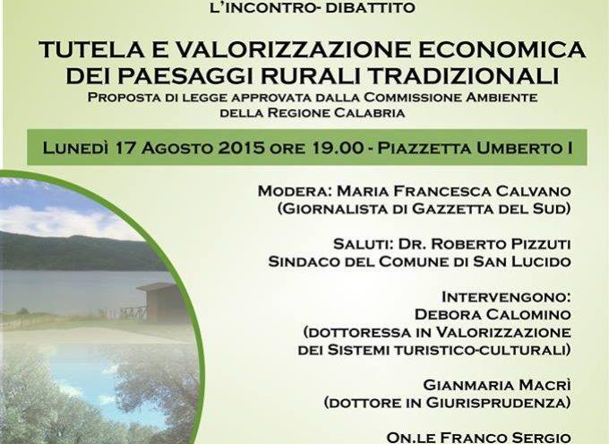 San Lucido. Sviluppo Economico e tutela dei paesaggi rurali