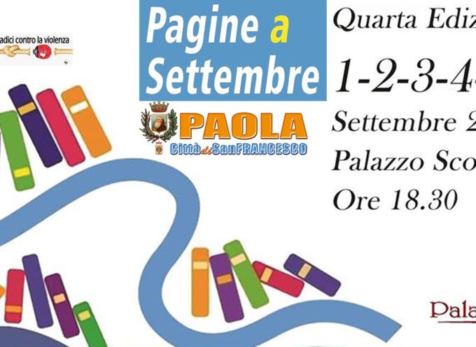 """Paola –  Oggi il via di """" Pagine a Settembre """""""