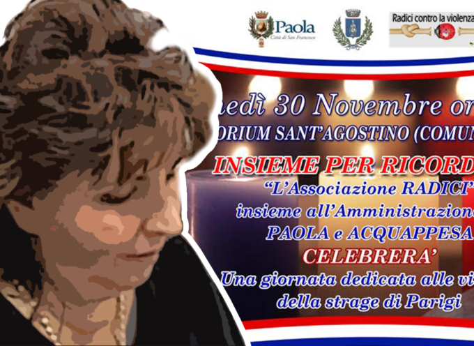 [Paola] Il 30 Novembre dedicato alla memoria delle vittime di Parigi