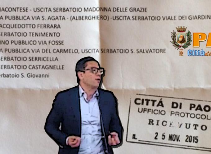 """Acqua non potabile a Paola – Il sindaco """"sapeva"""" i dati? [VIDEO con i timori dei Cittadini]"""