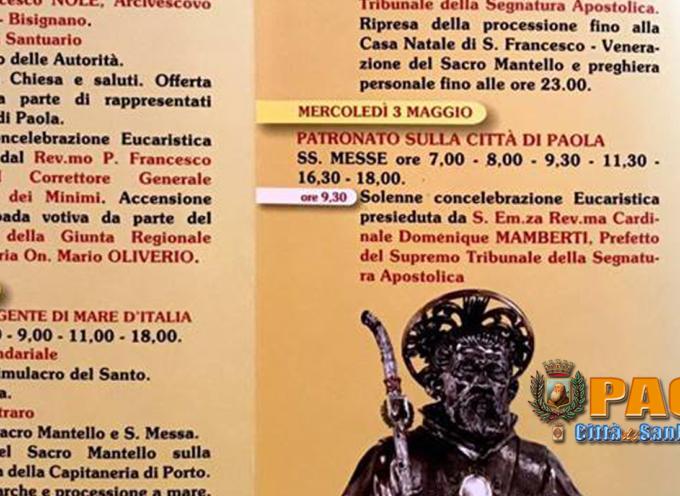 Paola – Fate attenzione alla Brochure del 4Maggio, c'è un errore