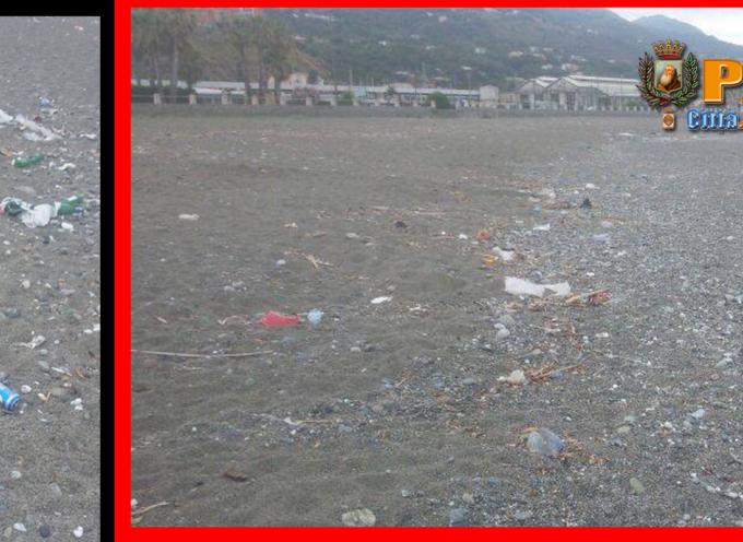 Paola – La spiaggia pare vandalizzata. Non può piovere per sempre