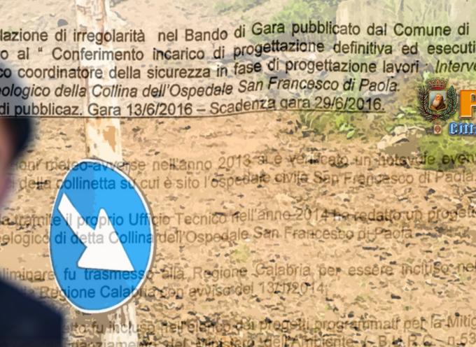Paola: «Mancanza di trasparenza» nel bando di Pavone? E la frana?