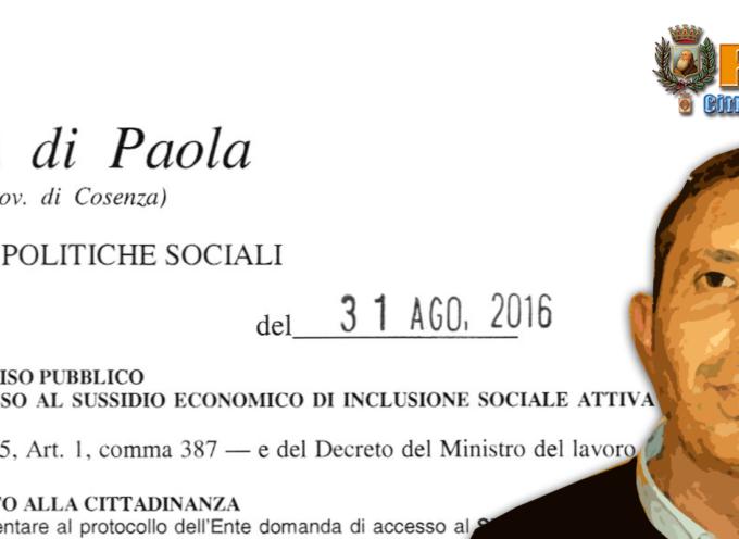 """Paola – """"Colpo"""" dell'assessore Marco Cupello: via all'iter per sussidi sociali"""