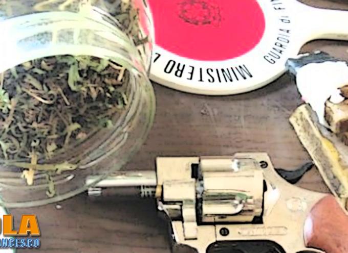 Paola – Un casolare con droga ed armi (colpo in canna) scoperti dalla GdF