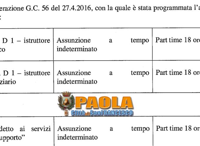 """Paola – Deliberati i criteri per assumere """"SETTE"""" persone in Comune"""