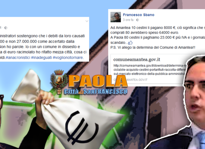 """Paola – Ferrari da 80mila euro ai dirigenti e Sbano fa """"arbitrari"""" paragoni"""