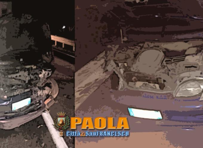 """Paola – Brutto incidente sulla SS18 nei pressi del """"Belvedere"""" – FOTO"""