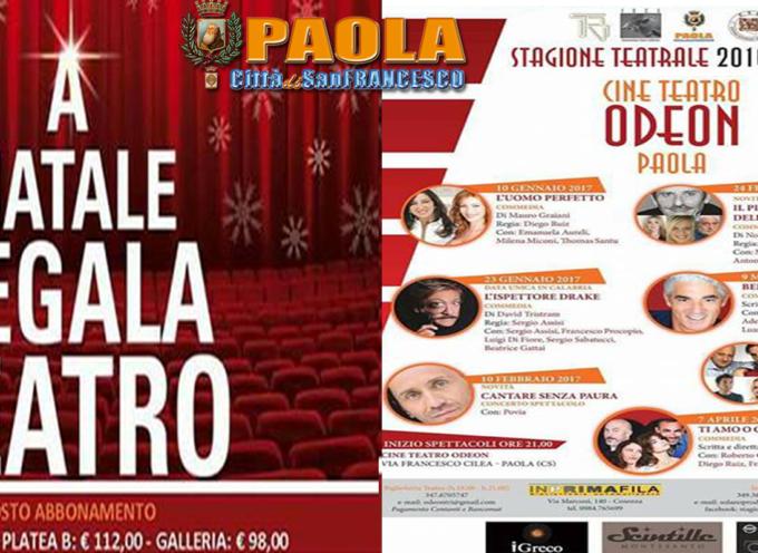Paola – Il Teatro da Cartellone riapre il sipario con la stagione dell'Odeon