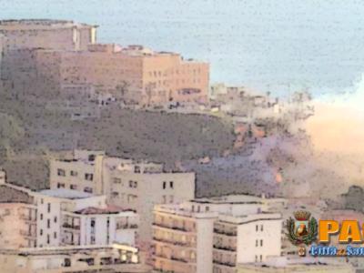 Paola – Vasto incendio intorno alla collina dell'Ospedale – VIDEO