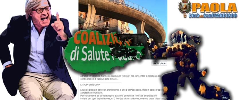 """Paola – Sgarbi critica """"ad orologeria"""" e i Perrottiani gli rispondono a tono"""