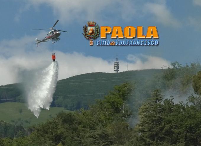 """Paola – Giorno """"di fuoco"""" per la città. Morsa delle fiamme su mare e monti"""