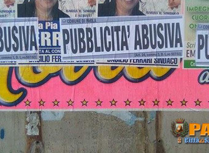"""Paola – Affissioni """"selvagge"""": nomi e numeri nella relazione dei Vigili"""