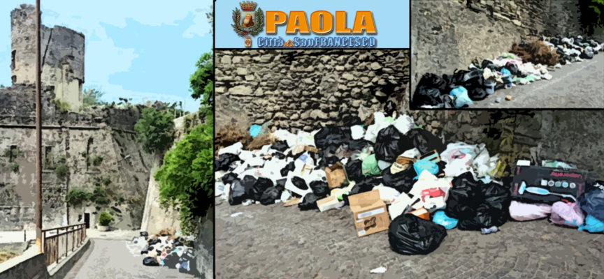 Paola – La Torre del Castello, simbolo della città, langue nel degrado