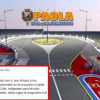 """Paola – Basilio Ferrari tenta di """"scaldare gli animi"""" sulla pista ciclopedonale"""