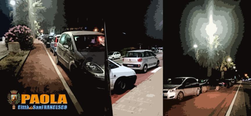 """Paola – Incivile invasione serale: auto su """"costruenda"""" pista ciclopedonale"""