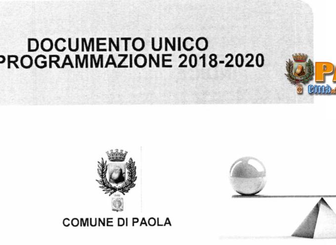 Paola – La Giunta ha approvato il Documento Unico di Programmazione