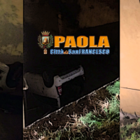 Paola: Tragedia sfiorata in macchinina, padre e figlio rischiano la vita – Foto