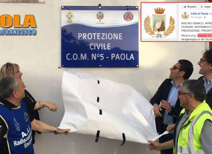 Paola – Il Centro Operativo ferrariano è un enigma da Protezione Civile