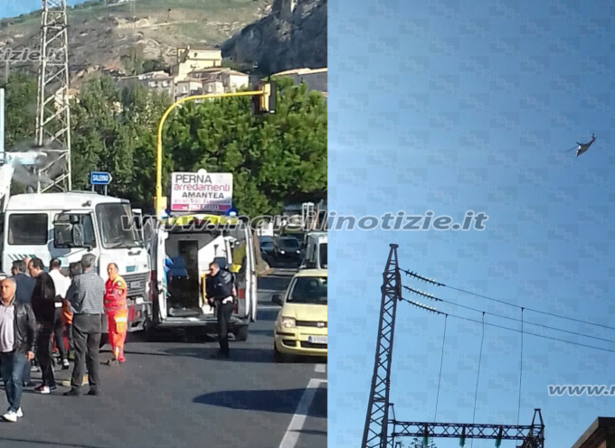 SS18 – Incidente tratto Amantea, ciclista sotto camion: Elisoccorso – FOTO