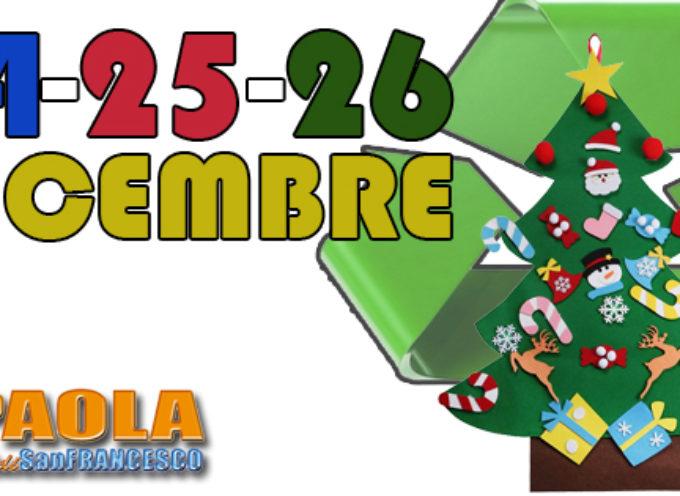 Paola – La differenziata tra Natale e Santo Stefano: giorni e orari di raccolta