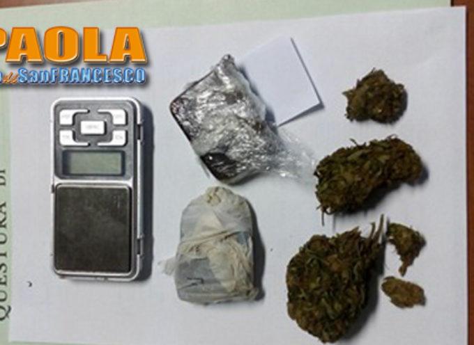Paola – Arrestato 42enne per detenzione (a fini di spaccio) di stupefacenti