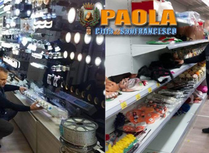 """Paola – Blitz GdF in uno """"store"""" cinese: sequestrati quasi 250mila prodotti"""