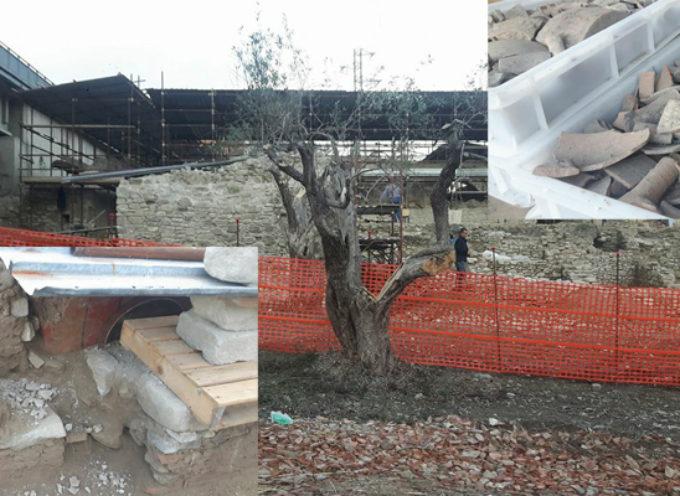 Lavoratori in nero e cantiere edile in area archeologica. Sigilli e denunce