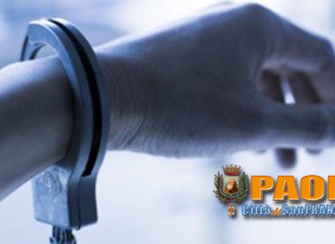 Paola – Scarcerata 33enne arrestata col compagno nel weekend per coca