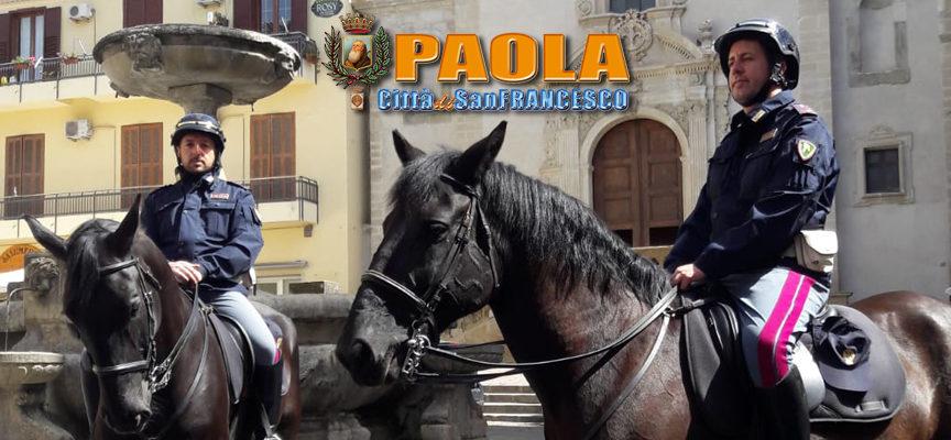 Paola – Il Reparto della Polizia a Cavallo venuto da Palermo visita la Città