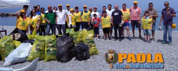 Paola – Una 40ntina di volontari per ripulire la spiaggia: Clean Up the Med!