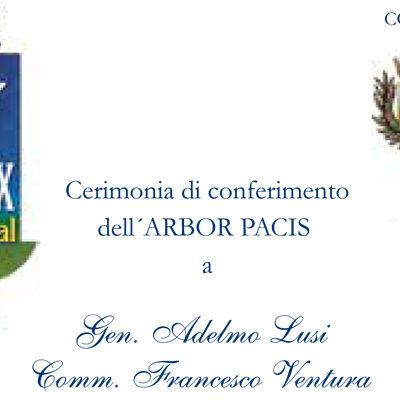 Paola – Oggi pomeriggio (ore 17), al S. Agostino sarà conferito l'Arbor Pacis