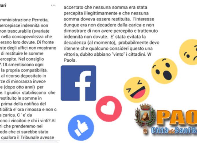 Paola: Dopo la capitolazione legale, Ferrari ricapitola su FB (farà Appello?)