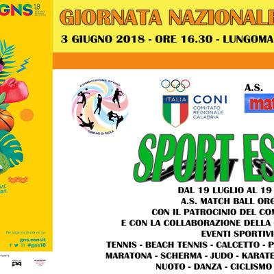 Paola – Domenica di Sport sul Lungomare: esclusiva provinciale con il Coni