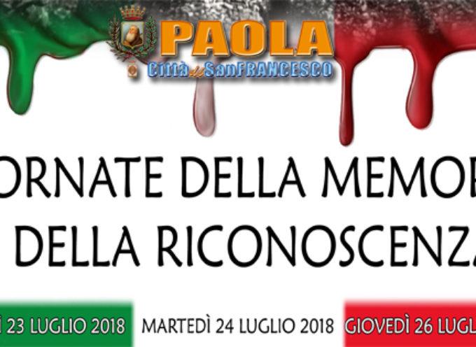"""Paola – 54 Morti, decine di Eroi: oggi """"Giornate della Memoria e della Riconoscenza"""""""