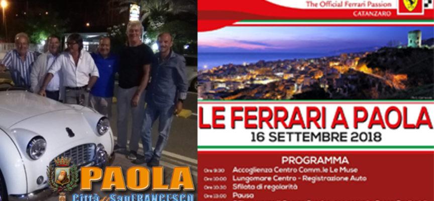 Paola: Città culla dei Motori, giovedì scorso le Triumph, domenica le Ferrari