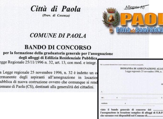 Paola – Pubblicati Bando e Domanda per accedere agli alloggi popolari