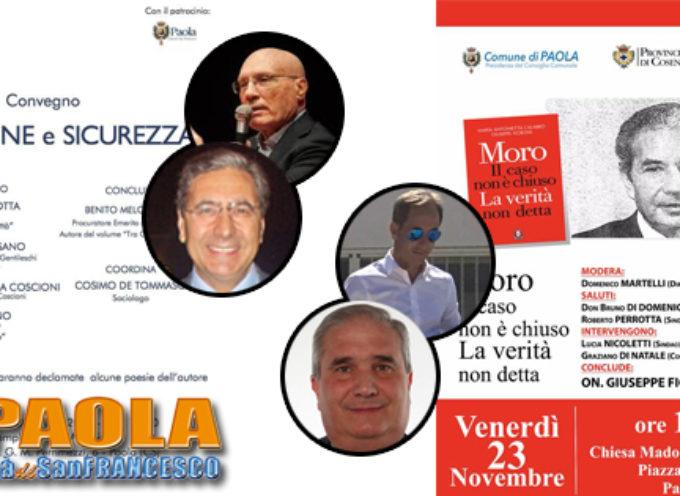"""Paola – Argomenti del weekend: """"Tra Crimine e Sicurezza"""" e il """"Caso Moro"""""""